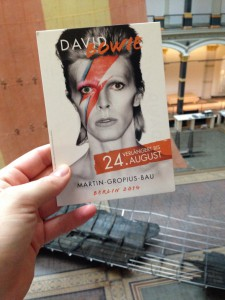 David Bowie exhibition Berlin 2014
