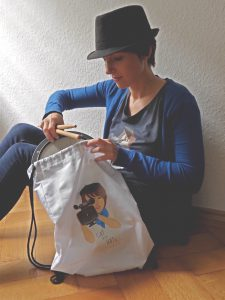 CATwithHATs_drummer-shirt_gymbag